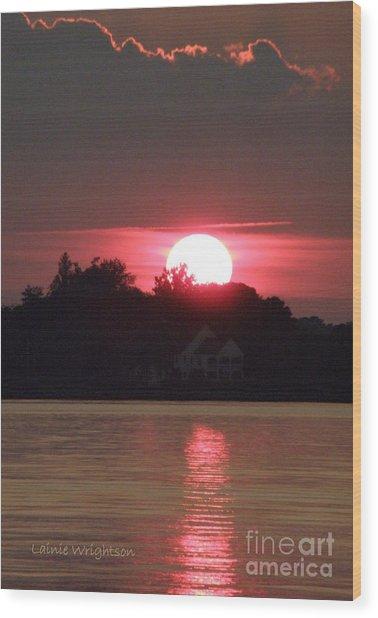 Tred Avon Sunset Wood Print