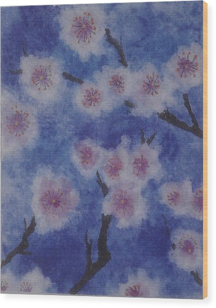 Tree Blossom Wood Print by Catherine Arcolio