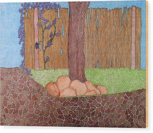Tree Bottom 3 Of 3 Wood Print