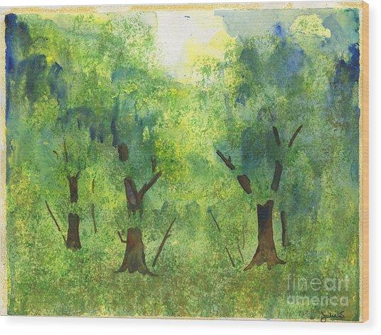 Tree Gazing Wood Print