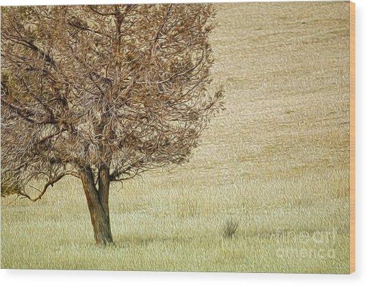 Tree Wood Print by Nur Roy