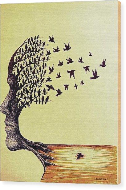 Tree Of Dreams Wood Print