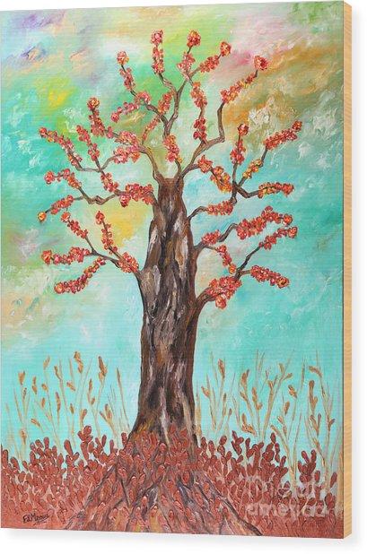 Tree Of Joy Wood Print