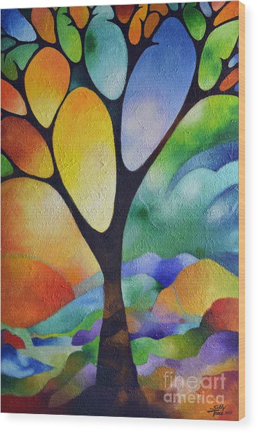 Tree Of Joy Wood Print