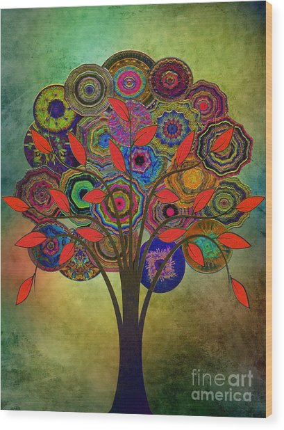 Tree Of Life 2. Version Wood Print