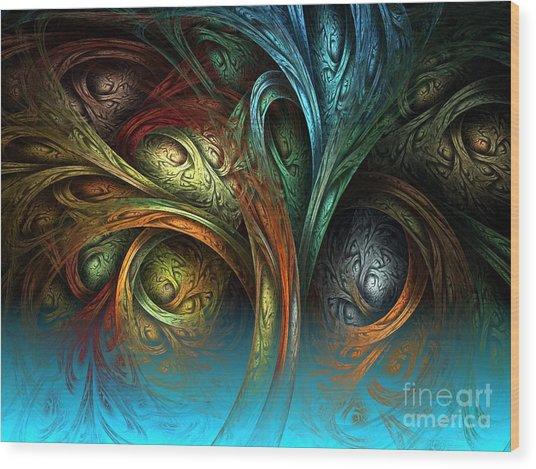 Tree Of Life Wood Print by Sandra Bauser Digital Art