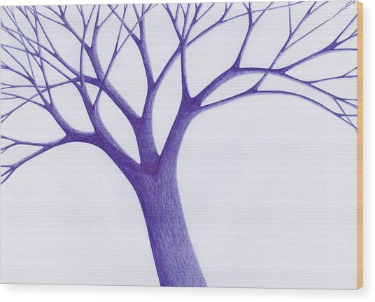 Tree - The Great Hand Of Nature Wood Print