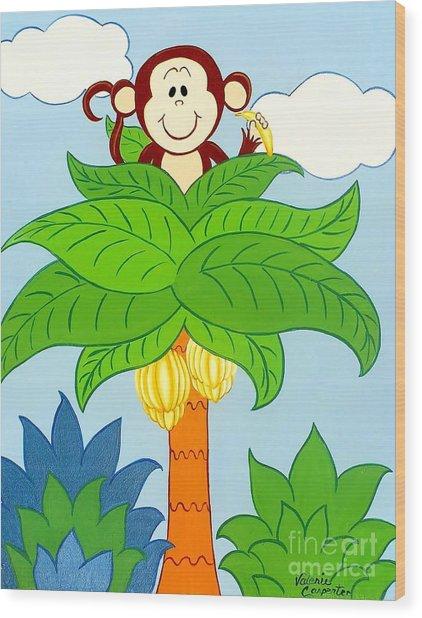 Tree Top Monkey Wood Print