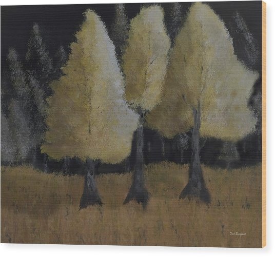 Tree Trio Wood Print
