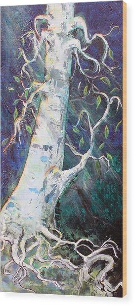 Tree Wood Print by Valerie Wolf