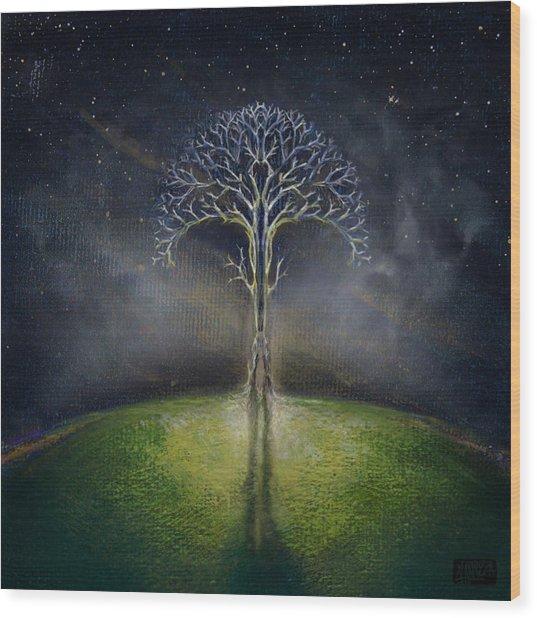 Treelogy II Wood Print by Vincent Carrozza