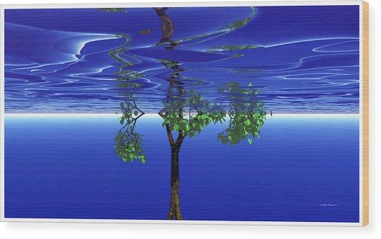 Trees In Heaven Wood Print