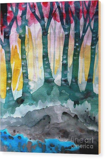 Treess Wood Print