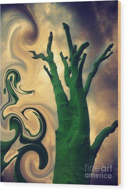 Treeswirl Wood Print