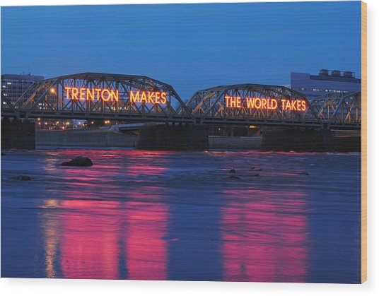 Trenton Makes Wood Print