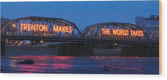Trenton Makes Panoramic Wood Print