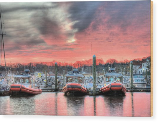 Tres Gunboats Wood Print