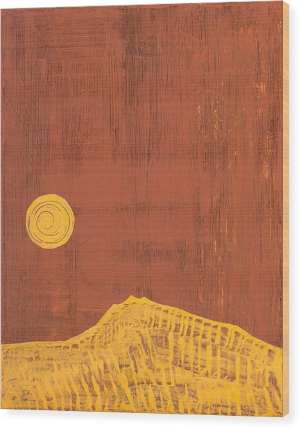 Tres Orejas Original Painting Wood Print