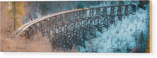 Trestle Rebuild Wood Print