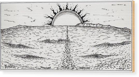 Trestles Wood Print