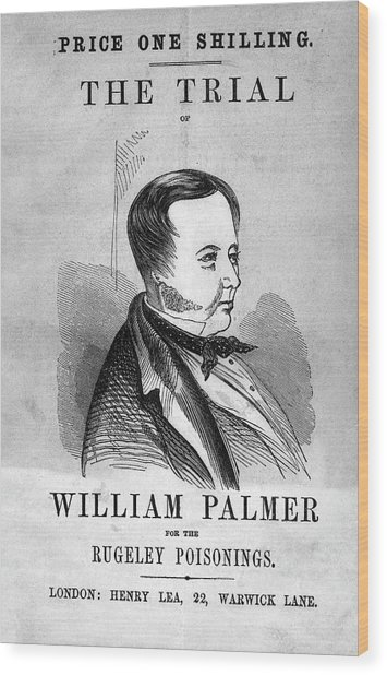 Trial Of William Palmer Wood Print by National Library Of Medicine
