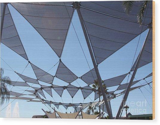Triangle Sky Wood Print