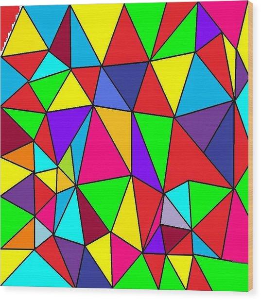 Triangles # 6 Wood Print