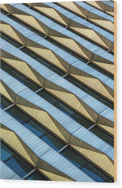 Triangles Symphony Wood Print