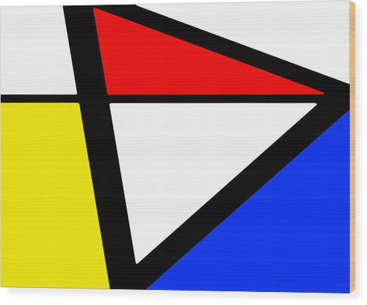 Triangularism I Wood Print