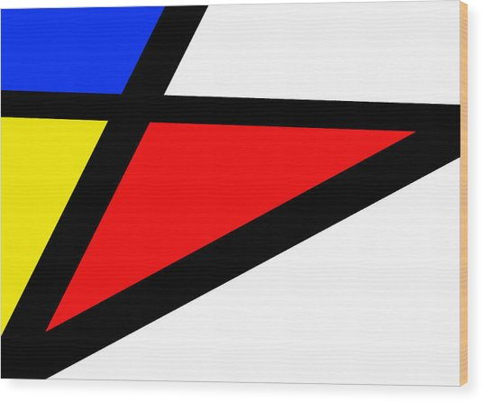 Triangularism II Wood Print