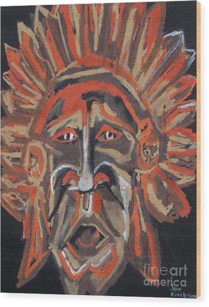 Tribesman Wood Print