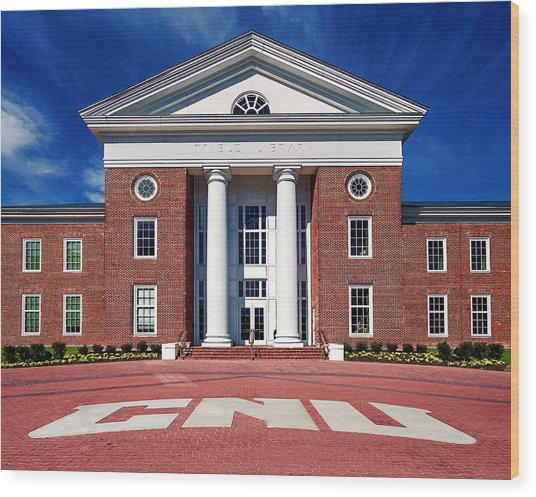 Trible Library Christopher Newport University Wood Print