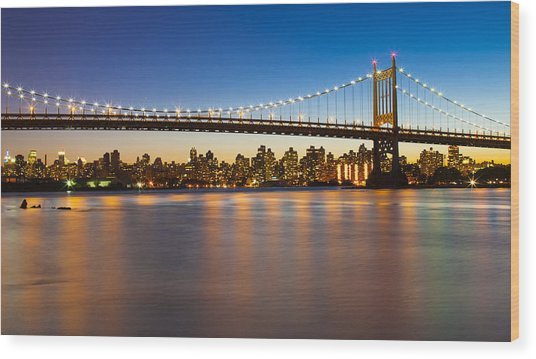 Triborough From Queens Wood Print by Chris Halford