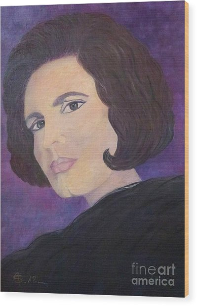 Tribute To Amalia Rodrigues The Queen Of Fado Wood Print