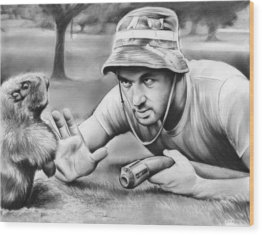 Tribute To Caddyshack Wood Print