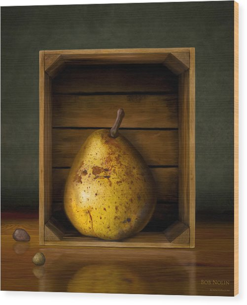 Wood Print featuring the digital art Tribute To Magritte by Bob Nolin