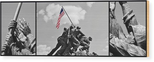 Tribute To The Marines Wood Print