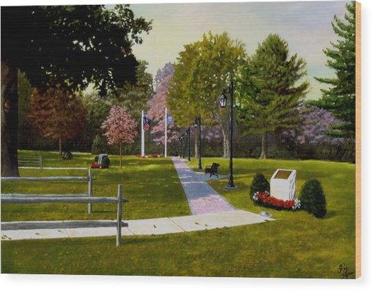 Tribute Walkway Wood Print