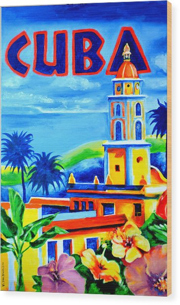 Trinidad Cuba Wood Print