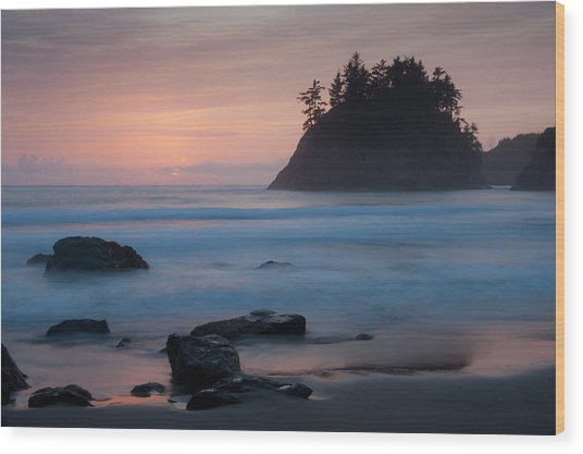 Trinidad Sunset - Another View Wood Print