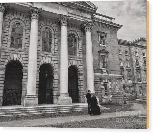Wood Print featuring the photograph Trinity College Examination Hall by Menega Sabidussi
