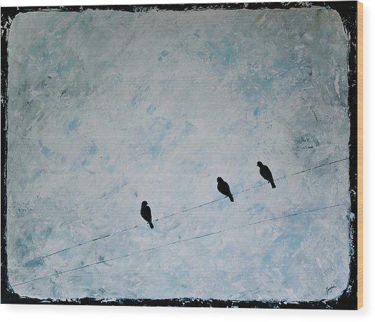 Trio Wood Print by Jesska Hoff