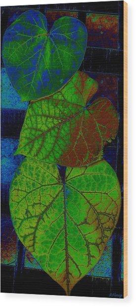 Trio Of Love Wood Print by Rebecca Flaig