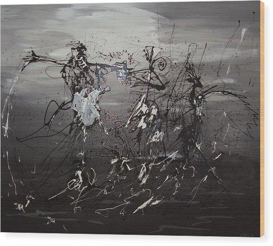 Trio Wood Print by Waldemar  Van Wyk