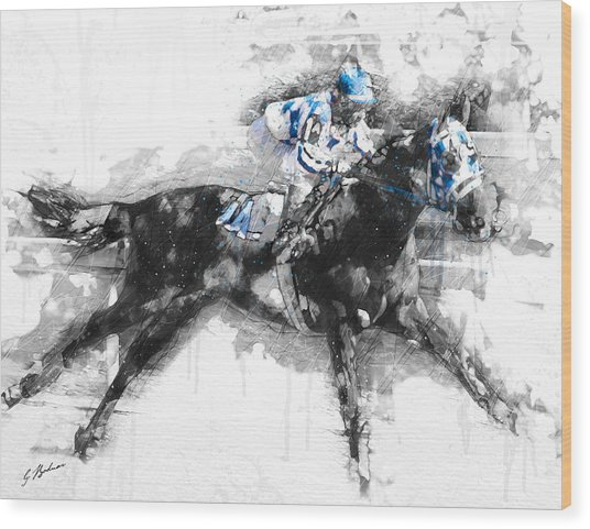Secretariat Triple Crown 73 Wood Print