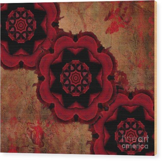 Triple Red Rose #1 Wood Print by Renata Ratajczyk