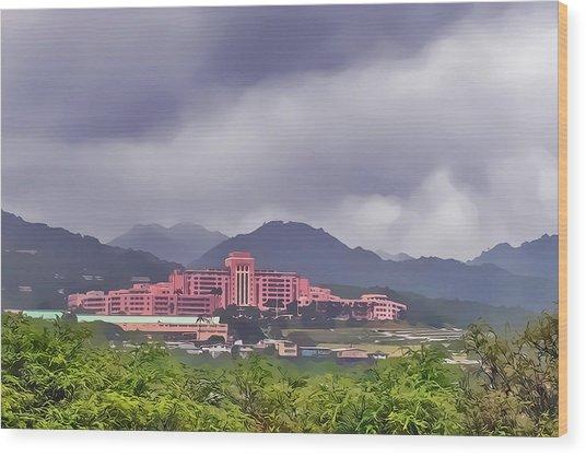 Tripler Army Medical Center Wood Print