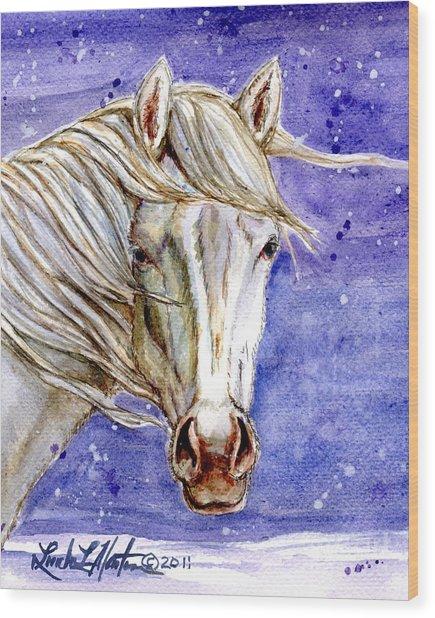 Tripod Wild Stallion Of The Sand Wash Basin Wood Print