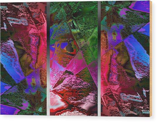 Triptych Chic Wood Print