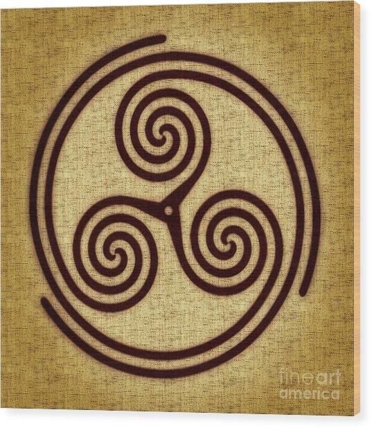 Triskelion  Wood Print